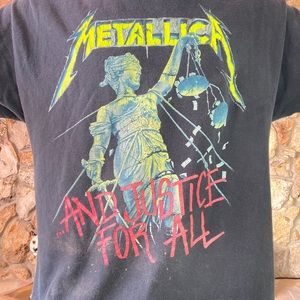 90s Metallica And Justice For All Grail T-shirt